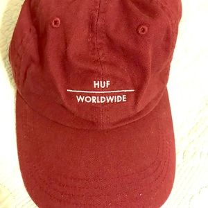 HUF Worldwide Hat In Maroon